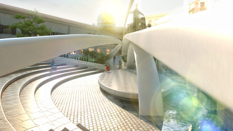 Vista de BIM Design agorá plaza Vigevano