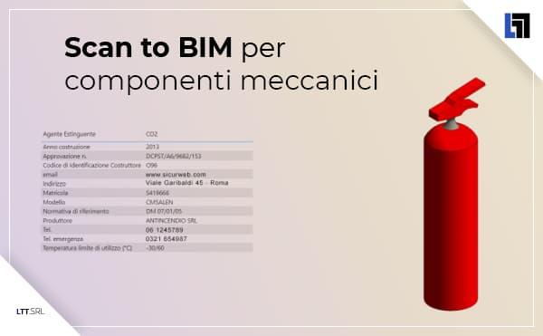 Scan to BIM per componenti meccanici