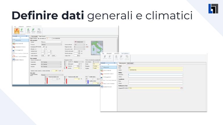Definizione dati generali e climatici